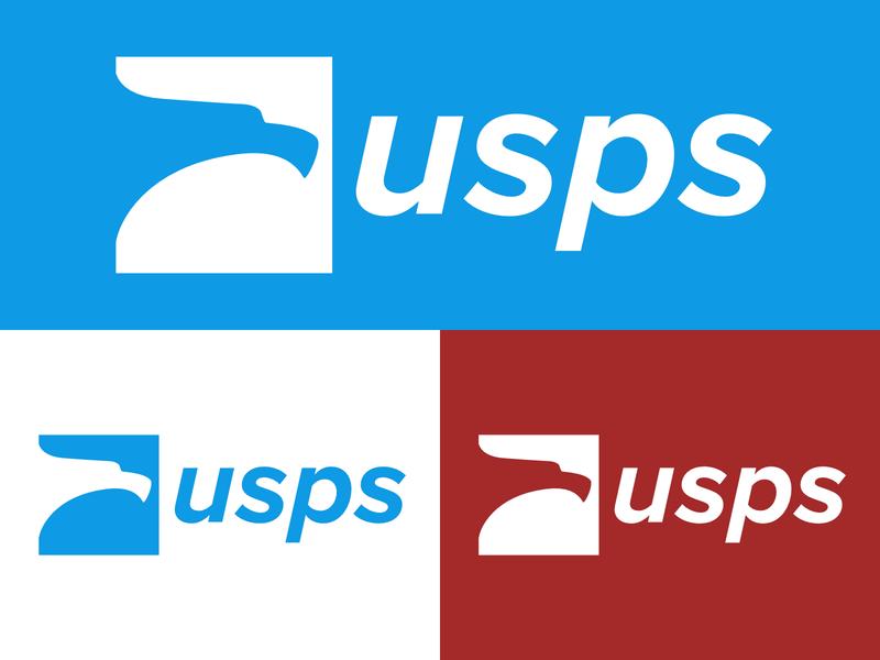 USPS Logo Redesign typehue graphic design color illustrator creative clean minimal challenge art illustration icon typography vector flat identity logo design branding logo graphic design