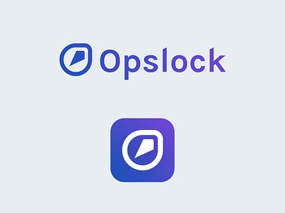 Opslock logotype logotype branding brand logo