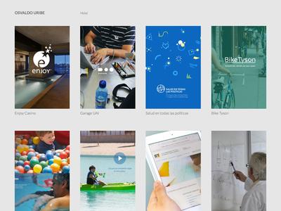 Portfolio responsive ui branding minimal work portafolio web