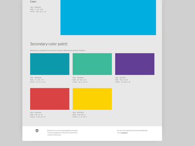 Color theme; Emblema brand ui colorfull saas logotype branding