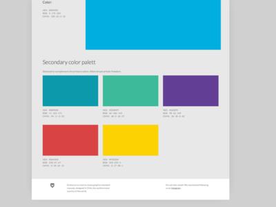 Color theme; Emblema brand ui colorfull saas logotype branding