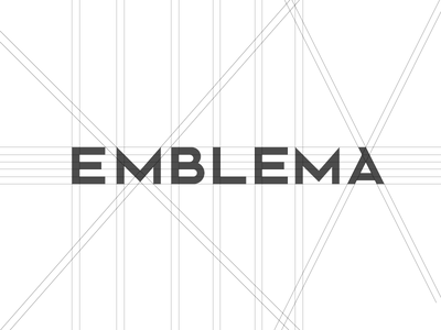 Emble.ma draw type branding logo elements proportion gris construction