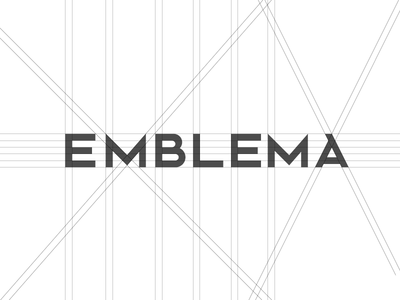 Emble.ma draw type branding logo elements proportion gris construction