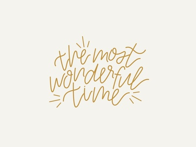 The Most Wonderful Time Lettering