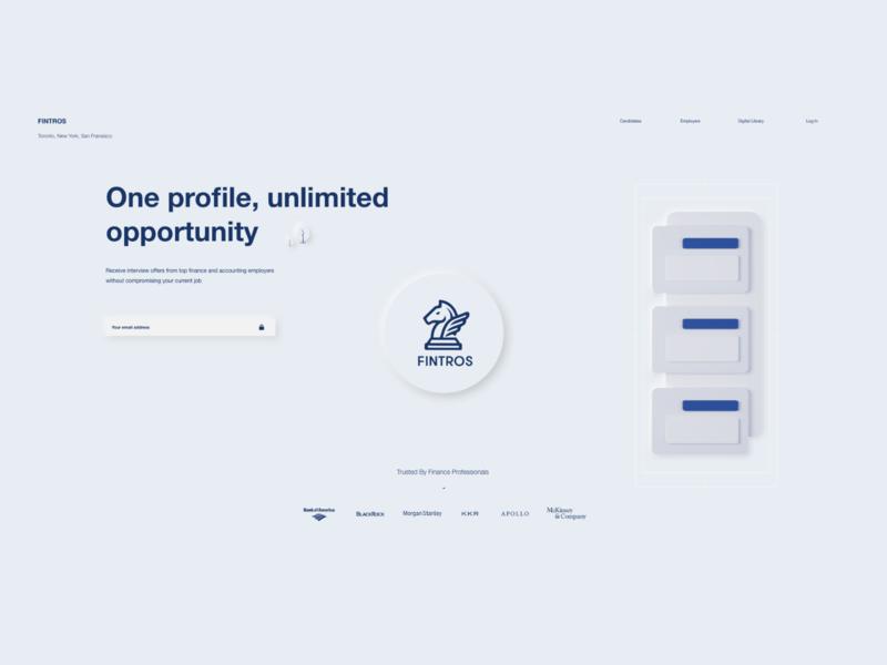 Fintros website ux ui settings profile page design land page art illustration gradient dailyuichallenge dailyui 007 006
