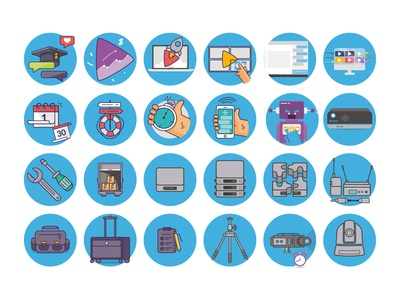 Icons UbiCast Serie 1