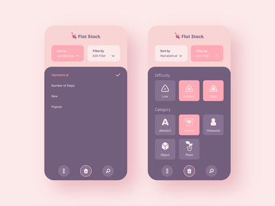 Flat Stack Filter vector pastel ux design flat interface ui app brand branding