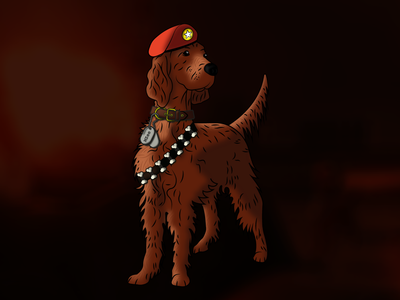 TheMZee British Setter Illustration gaming sheffield illustration branding concept brand logo design dogs vector irish setter dog
