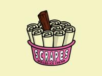 Scrapes Rolled Ice Cream