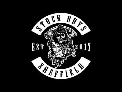 Stock Boys • Sheffield brand logo anarchy sons of anarchy stock boys sheffield