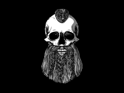 Rip Rev 08 black and white viking gaming streamer twitch brand logo design