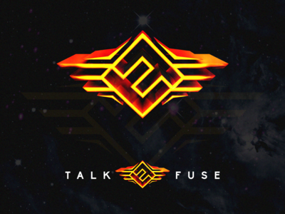 TalkFuse 2019 icon website twitch gaming esports illustration print poster sheffield concept branding sketch fireworks brand vector logo design