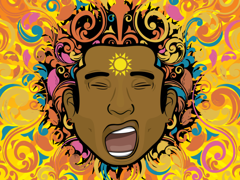 Muti Musafiri Full Colour Profile Illustration solar plexus solar icon twitch interface esports gaming poster illustration sheffield print concept branding sketch fireworks brand vector logo design