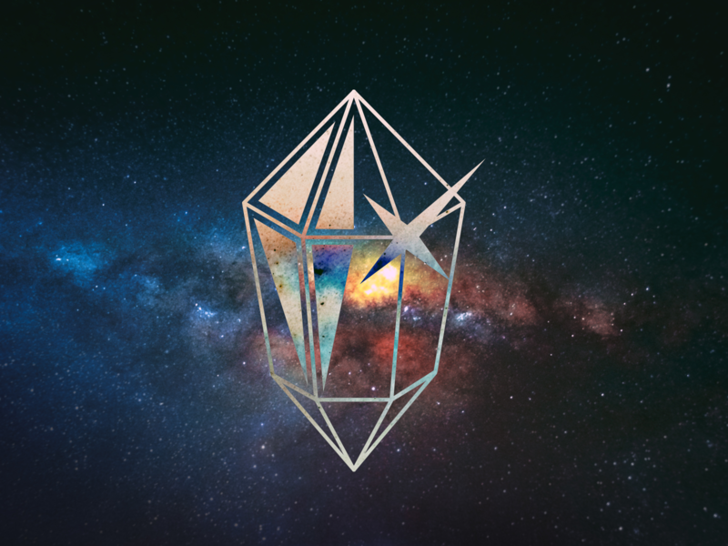 KIDE Crystal logo vector diamond crystal music