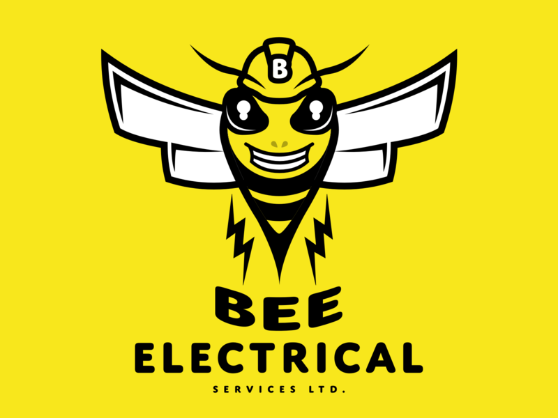 Bee Electrical illustration concept branding sketch brand electricity electrical vector design logo bug insect wasp bee