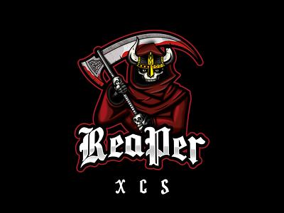 ReaPer XCS concept branding design twitch.tv twitch logo vector brand streaming fps counter strike gamer biker death reaper grim reaper logo twitch