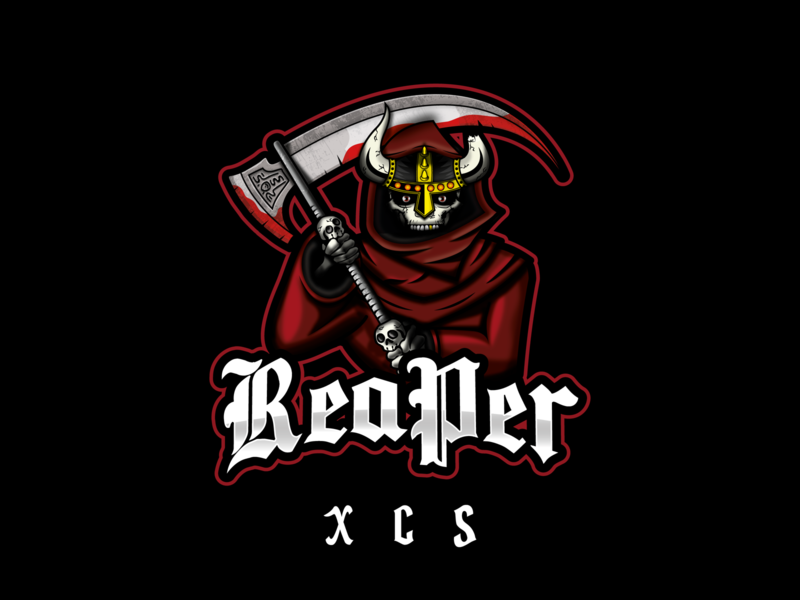 ReaPer XCS concept branding design twitch.tv twitch logo vector brand streaming fps counter strike gamer biker death reaper grim reaper logo twitch