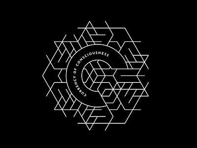 Currency of Consciousness typography concept vector design isometric logo design event logo brand design brand logo