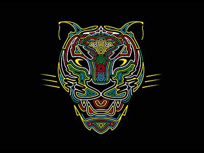 Pantha T-shirt Design print illustration concept sketch brand vector logo design
