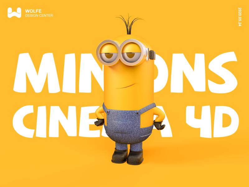 MINIONS for Cinema 4D illustration ae ux ui
