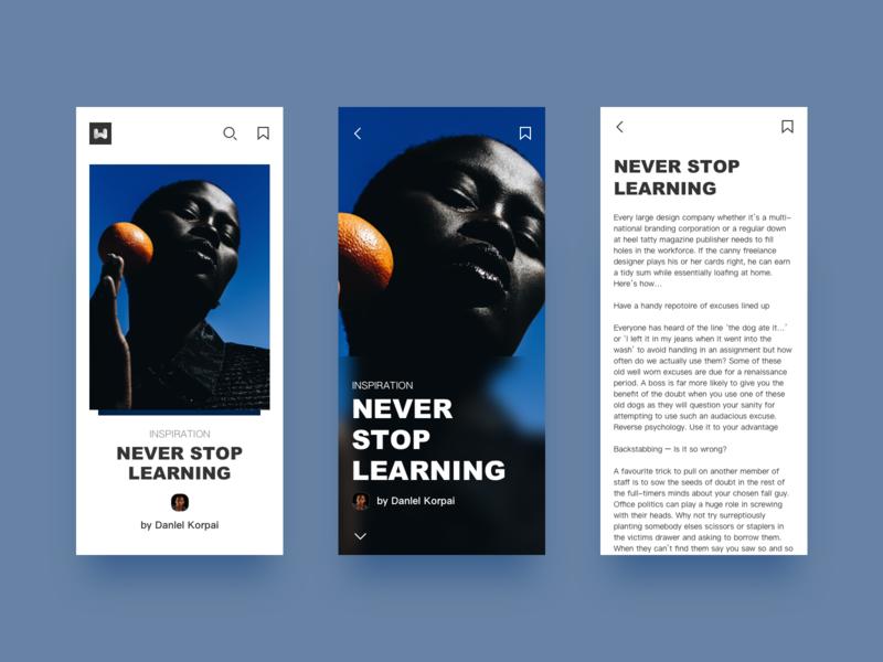 UI design of news app ux app design app design ui