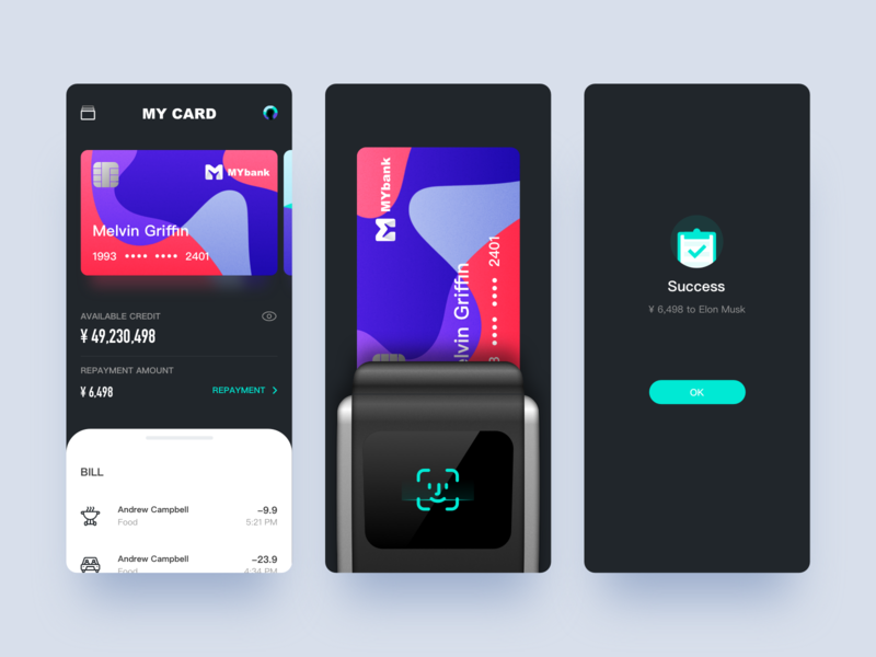 Payment app UI design app design 设计 design app ui