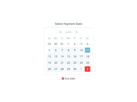 Select Payment Date
