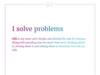 Gilli.is Hero Section