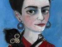 Frida Kahlo Artist Portrait
