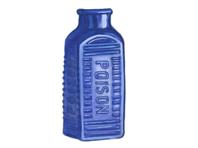 Victorian Poison Bottle illustration