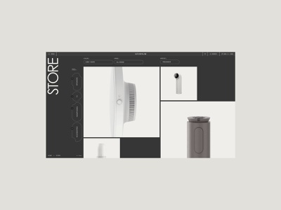 Store concept / WIP webdesign promo minimal interface ux ui clean site web fullscreen