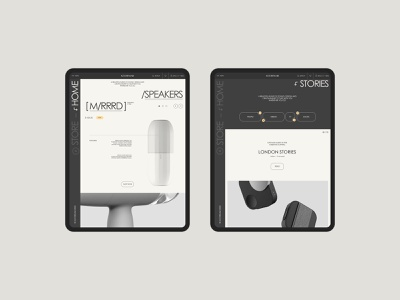 Store concept on tablet tablet store ecommerce promo interface ux ui clean site web