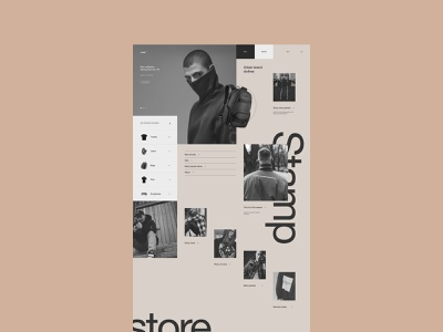 Stamp design ecommerce store interface ux ui clean site web fullscreen
