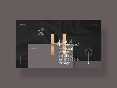 Haus of Hendricks / draft ver. 1 agency promo minimal ux interface ui clean site web fullscreen