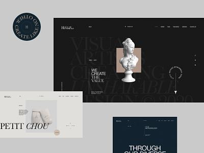 Haus of Hendricks minimal fullscreen promo portfolio site clean ux ui interface