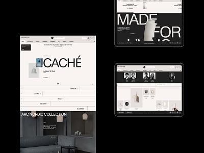 Decoroom grid shop ux design interface clean site web ui