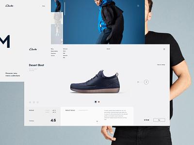 Clarks/WIP minimalism ecommerce fashion ux ui interface site minimal clean fullscreen