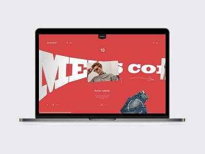 Js.sw fashion store ecommerce promo interface ux ui minimal site web fullscreen