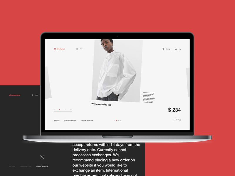 Js.sw — 2 store fashion ecommerce promo interface ux ui minimal clean site web fullscreen