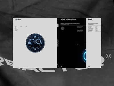 Reactor watch watch 3d store promo webdesign interface ux ui minimal clean site web fullscreen