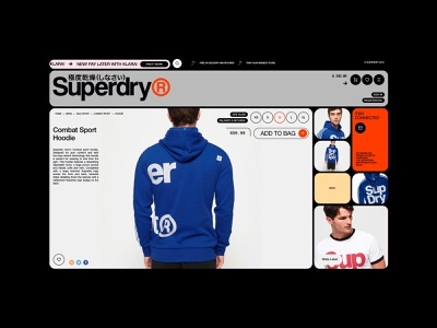 Superdry® / item website ux ui interface web fullscreen shop store ecommerce