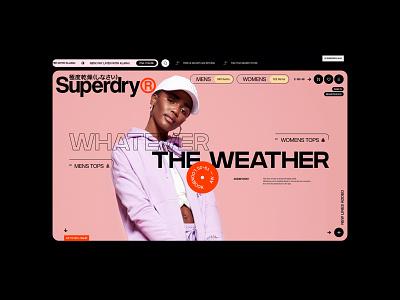 Superdry® website web ux uiux ui fullscreen clothes shop ecommerce shop store ecommerce
