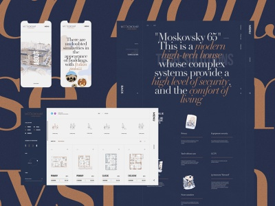 M65 — living complex typography site appartments flats realestate estate website uiux ui web