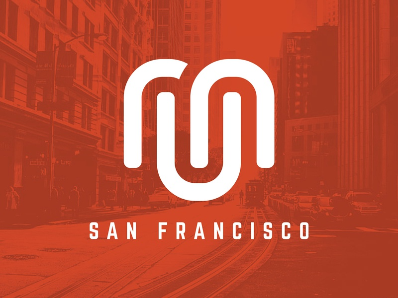 Run San Francisco - Logo Design jason lowery running logo mark corporate branding corporate identity run running design san francisco branding typography logo