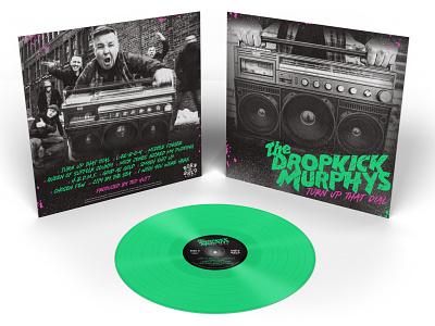 "Dropkick Murphys ""Turn Up That Dial"" Vinyl Artwork old school boom box boombox vinyl design music design album design typogaphy boston celtic punk rock vinyl cover vinyl record album artwork album cover album art vinyl dropkick murphys"