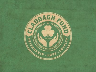 Claddagh Fund t-shirt branding logo dropkick murphys irish celtic claddagh fund