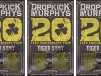 Dropkick Murphys 20th Anniversary Tour Poster