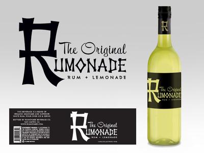Rumonade beverage tiki logo product design drink rumonade