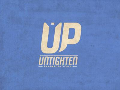 Untighten Pharmaceuticals - Logo typography nutrition supplements branding logo