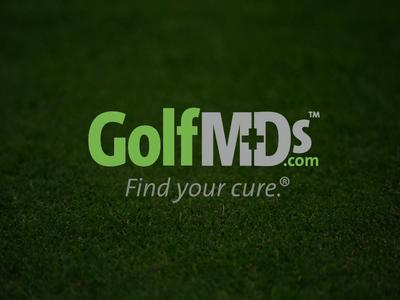 Golf MDs identity corporate branding medical golfing branding logo golf golfmds